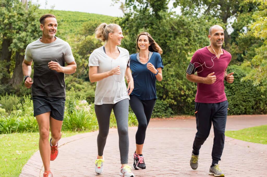 runners enjoying good health